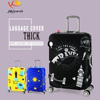 Wholesale S size beautiful printing pattern for inch Custom spandex elastic luggage cover for travel with
