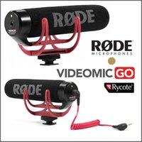 Wholesale Rode VideoMic On Camera Mounted Shotgun Mic Microphone w Windshield for Canon T3i D2 D D D D3 Nikon D800 D600 D700 DSLR SONY