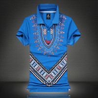 Wholesale New Design African Print Dashiki Shirts Fashion National Wind T shit Dashiki For Men
