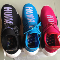 baseball fabrics - New NMD Runner silhouette Hu race Williams Pharrell NMD Human Race Vibrantly Colored Shoes Sneaker Boost With Box