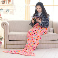 Wholesale Air condition Blanket Mermaid Tail Blanket Super Soft Warmer Blanket Bed Sofa Costume