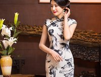 Wholesale New Chinese national style embroidery modified version of the Chinese dress it is comfortable and beautiful fresh style