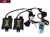 achat en gros de kit led pour h3-US Stock! 55W Conversion Xenon HID Kits Phare H3 H8 / H9 / H11 4300K 6000k 8000k 10000k voiture Ampoules LED High / Low faisceau halogène