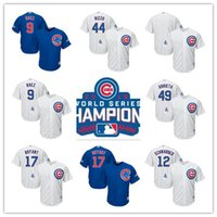 Wholesale Chicago Cubs World Series Champions Patch Jersey Kris Bryant Javier Baez Kyle Schwarber Anthony Rizzo Jake Arrieta