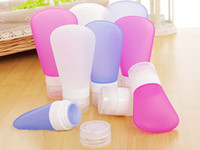 Wholesale 2016 new Refillable Sub bottling Shampoo Shower Lotion Gel Squeeze Bottle Sucker Silicone Travel Points Bottling