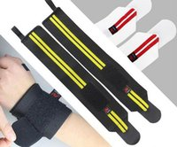 Wholesale New Pro Weight Lifting Wristband Gym Wrist Support Straps Wraps Sport Safety Fitness Training Hand Bands