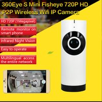 audio infrared - CWH P HD Eyes Panorama WIFI Wireless IP Cameras EC2 P2P Cloud Two Way Audio with IR Leds Fisheye IP Camera