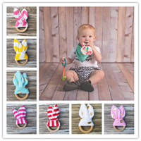 baby natural toys - baby Teething Ring Fabric and Wooden Teething training with Crinkle Material Inside Sensory Toy Natural teether bell