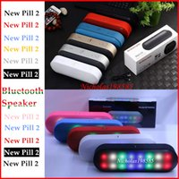 Wholesale New Pill XL And BT808NL LED Light Flash Mini Protable Bluetooth Speakers Wireless Smart Hands free Speaker Support FM Radio TF Card U disk