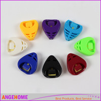 Wholesale Mix Color Professional Alice Guitar Pick Plectrum Holder Cases Sticky Plactic Triangle Heart shaped Design