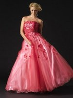 affordable quinceanera dresses - 2017 New Arrival Strapless Hand Made Sewing Flowers Pink Tulles Quinceanera Dresses Zipper Floor Length High Quality With Affordable Price