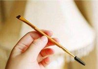 bamboo shops - 2016 latest Arrival Tarte eyebrow brushes double ended brand makeup brushes false eyelashes brushes Bamboo tool DHL free shopping