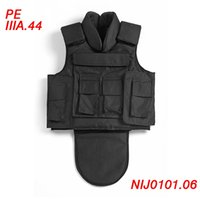 ballistic clothing - Body Armor PE Military Ballistic Vest Crotch Protective IIIA Black Bulletproof Vest with Plates Safety Clothing Tactical Vest ME0008