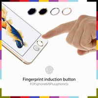 apple keyboard touch - Benks Key Button Metal Round Home Keyboard Finger Smart Fingerprint Sensor Keypad Sticker Touch ID For iPhone S plus with Paper Package