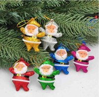 Wholesale 2017 hot sale Christmas decorations six colors Senta Claus foam pendant