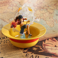 Wholesale Luffy hat straw hat type household microwave oven ceramic bowl salad bowl limited edition big bowl tableware