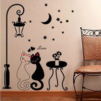 bedroom distributors - sticker distributors Cats love the room under the lights decorations stickers bedroom wall stickers romantic girl window stickers