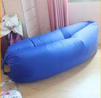 air conveniences - 2016 Multipurpose Leisure Convenience European Inflatable Lazy Sleeping Bag Folding Sofa Air Convenient Indoors and Outdoors Beach
