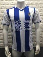 adult soccer training - 2016 Real Sociedad home soccer jerseys adult tops men de foot maillot best quality uniform training suits Real Sociedad jersey