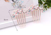 Wholesale South Korea explosion diamond love hair comb comb dress creative diamond gift accessories