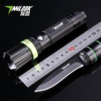 Wholesale High Quality Metal Material Multifunctional Light Flashlight Camping Knife LED Rechargeable Flashlight