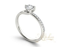 Cheap wholesale ladies's most fashion popular sterling sliver 925 ring custom couples wedding engagement ring settings BER0210