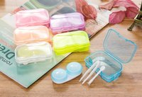 Wholesale 50Pcs Candy Color Contact Lens Case Color Freshloo Contact Lens Box Hot Style In Stock