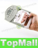 Wholesale LAI Gray Blue Plastic Electronic Dynamometer Digital Hand Grip Power Strength Measurement Meter Tester
