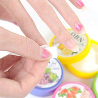 Wholesale Flower Flavor Wet Wipes Paper Towel Nail Art Polish Vanish Remover Pads K00073 BAR