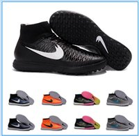 Wholesale 2016 MagistaX Proximo IC TF Soccer Shoes Futsal Soccer Boots Magista Obra Indoor Soccer Cleats Mens Football Shoes Street Football Boots