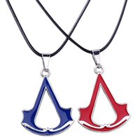 bake games - 2016 New Assassin s Creed Game Wth Paragraph Pendant Necklace Double sided Baking Sickle Shape Pendant Necklace Jewelry