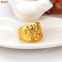 avatar bar - Hip Hop Men Ring Jesus Avatar K gold plated Medusa Rings Punk Rock Jewelry Anillos Bar Club One Ring For Wedding Gift
