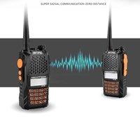 Wholesale New BaoFeng UV R Portable radio Walkie Talkie Pofung UV6R Two Way Radio W CH UHF VHF Dual Band Handled Transceiver