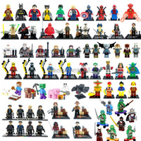 Wholesale Marvel Super Heroes TMNT SWAT Star Wars City Movie Zombie Minifigures Building Blocks Sets Bricks Toys