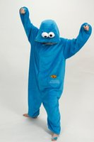 adult elmo onesie - Adult Sesame Street Red Blue Elmo onesie Costume Romper Pajamas Pyjamas Cosplay S M L XL Halloween Cosplay Unisex Winter Warm