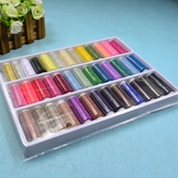 beading machine - 39 Colors Rolls Mixed Spool Embroidery Sewing Floss Thread Cords Cross stitch Embroidery Threads White Yarn Beading Wires Craft Machine