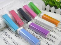 Wholesale 90pcs sets free shiiping mah Portable Lip Stick lipstick Power Bank Emergency battery Charger Pack for phone