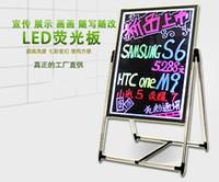 Wholesale Fluorescent Toughened glass led advertising board blackboard message board promotional display fluorescence plate fluorescence