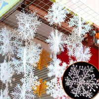 Wholesale 3Pcs New Classic White Snowflake Ornaments Christmas Holiday Party Home Decoration
