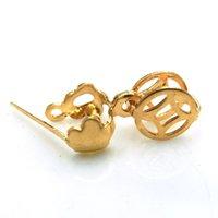 Wholesale DIY Button Pendant Necklace accessories hang buckle two style Titanium gold color