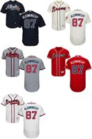 barrett orders - 2016 Newest Men s Atlanta Braves Barrett Kleinknech Flexbase Jerseys White Grey Blue Red Cream Baseball Jerseys Mix order