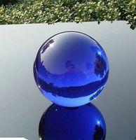 Wholesale 48mm Asian Rare Natural Quartz Blue Magic Crystal Healing Ball Sphere
