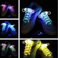 Wholesale DHL Led Shoes Laces Shoelaces Fashion rd Gen LED Party Disco Dance Flashing Skate Sports Glow Stick Flash Light Up Lighting pairs