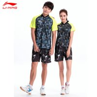 Wholesale LI NING Table Teiins Sport Set Polo Shorts Breathable World Championships China Game Shirts and Shorts AAPL047 AAPL064