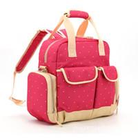 Wholesale Mummy Diapers Backpack Canvas Diaper Bag Tote Khaki Dot Multi function Polka Dot DHL free