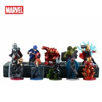 best freezers - 2016 Freeshipping Movie Avengers PVC Figurines Refrigerator fridge Freezer Magnets DIY Home Decoration Best Toy Gift Inch Mix styles