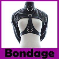 Unisex bondage corsets - Prisoners Clothe BDSM Toys Leather Corset Shackles Binding Open File Bondage Sex Slave Sex Toys Adult Products Sex Game Rivet Leather