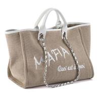 beach dress bag - CC Brand top quality women jean shopping bag embroidery women beach bags luxury style women chain shoulder bag CANVAS HANDBAGS real leather