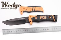 gerber knife - WEDGE Gerber Ultimate Survival Knife Full blade Oem Fixed knife AUS A Black Blade Rubber Handle Bear Outdoor Gear Tactical Tools Knives