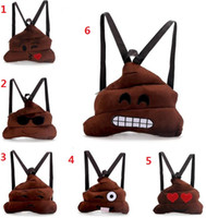 Wholesale New Emoji Poop Expression Kids School Bags Children Plush Backpack Kids Plush Toy Christmas Gift